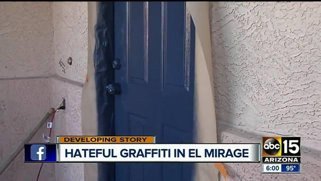 El Mirage woman awakes to racist graffiti on home