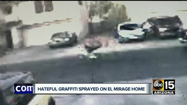 El Mirage family wakes up to find racist graffiti on house