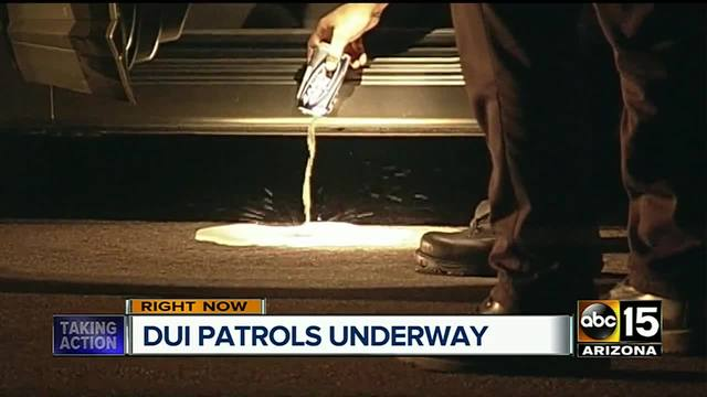 Peoria police patrolling streets for drunk drivers