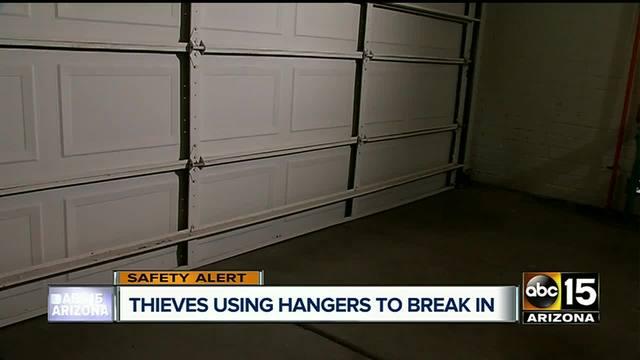 Burglars Can Break Into Your Garage In Seconds Using A Coat Hanger