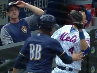 VIDEO: Bizarre interference play in MLB game