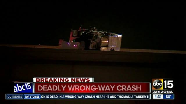 Wrong-Way Driver Dies in Collision at I-17 Stack