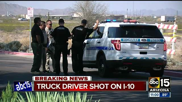 Trucker Shot on I-10; No Evidence It's Related to Freeway Shooter