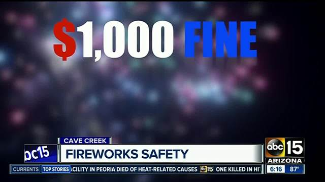 Firefighters reminding Arizonans about the importance of fireworks safety
