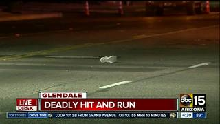Man dead after Glendale hit-and-run crash