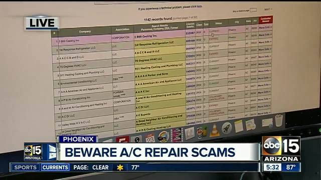 9 tips to avoid scams by A-C repair companies