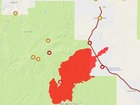 MAP: Track Goodwin Fire burning near Prescott
