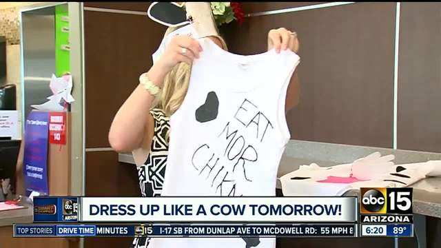 Dress up like a cow to get free Chick-fil-A food