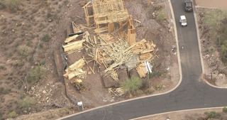 Storm damage in Queen Creek, Gold Canyon