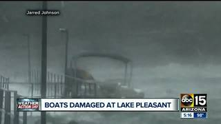 Damage done at Lake Pleasant; some rescued