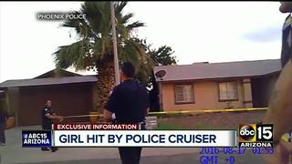 Body camera footage: Girl struck by PHX PD car