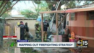 Mobile home fire poses challenge for PHX FD