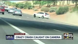 Car travels through L-101 lanes, crashes into 2