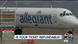 Is your plane ticket refundable?