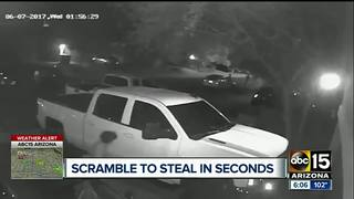 Teens run out of cars to break into other cars