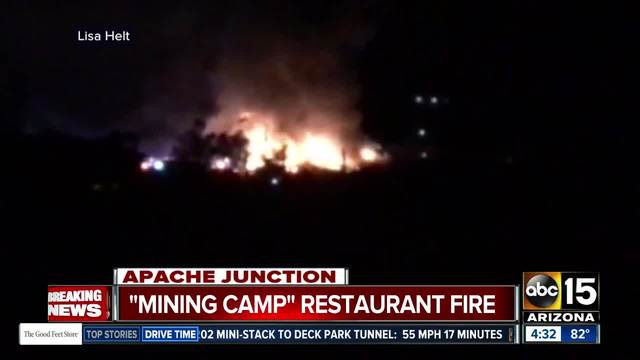 Large fire breaks out in Apache Junction
