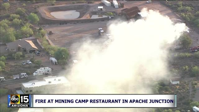 Fire at Mining Camp restaurant in Apache Junction
