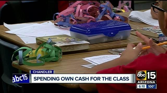 Teachers spending their own cash on school supplies