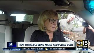 What to do if you're armed and pulled over