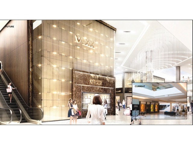 In This Artist Rendering Of Scottsdale Fashion Squares Renovations An Elevator And Escalator Have Been Relocated Close To Dillards Entrance Columns