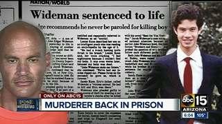 Convicted killer back in prison after violation