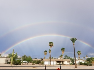 PHOTOS: Double rainbow in East Valley