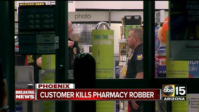 Customer shot armed suspect during Walgreens robbery