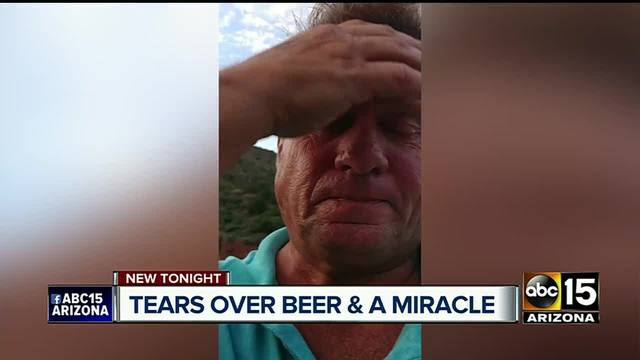 Man stranded in desert survives on beer, crackers and urine