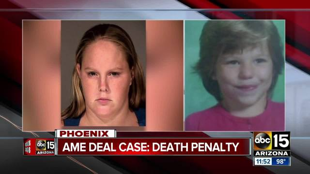 Arizona woman sentenced to death in killing of 10-year-old