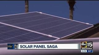Valley couple confused by solar panel install