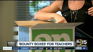 'Bounty boxes' help teachers go back to school