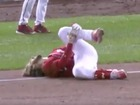 VIDEO: Bryce Harper suffers ugly-looking injury