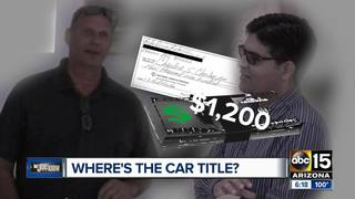 Buying a used car? Get the title first!