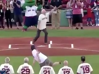 OUCH: UA alum hit below belt by awful 1st pitch