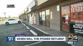 Glendale businesses struggle with no power