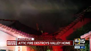 PHX FD: Dog rescued, home lost in overnight fire