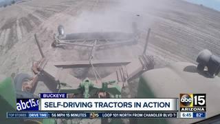 Self-driving tractors in use on Arizona farms