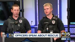 Mesa officers applauded for heroic fire rescue