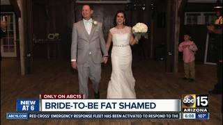 Woman fat shamed by Phoenix bridal store
