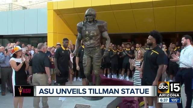 Pat Tillman Honored by Arizona State with a Bronze Statue