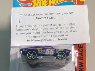 Surprise father leaves toy cars in son's memory