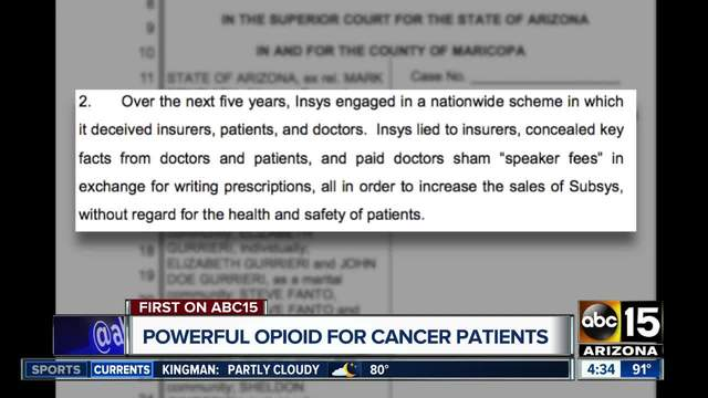 Arizona accuses drugmaker Insys of fraudulent opioid marketing