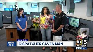 Wife, husband meet 911 dispatcher who helped