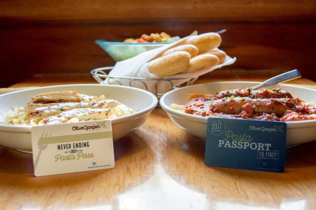 heres how to buy olive gardens pasta pass - Olive Garden Las Vegas