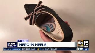 Arizona woman creates high-heels for comfort