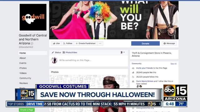 halloween costumes save now through all hallows eve with goodwill deals - Halloween Store Phoenix Az