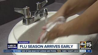 Flu season starting early in Arizona