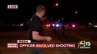Suspect dead in Mesa officer-involved shooting