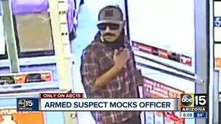 Video: Suspect mocks cop in robbery attempt