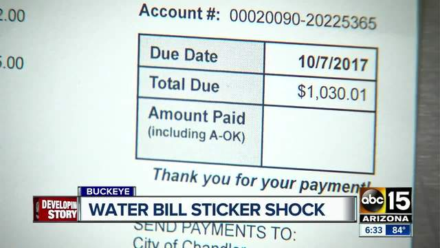 Is your water bill giving you sticker shock-